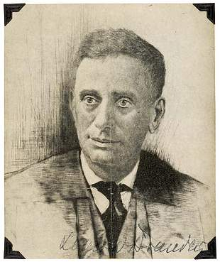 Lot 26: Louis Brandeis Signed Sketch