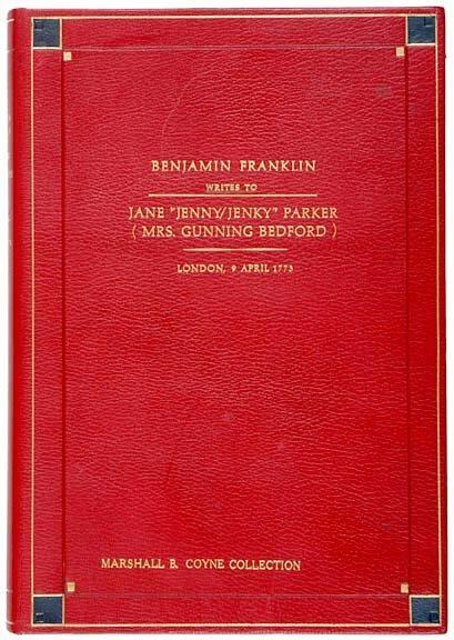 Lot   68:1773 Benjamin Franklin Signed Letter