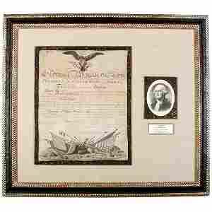 Lot  202: George Washington Signed Document