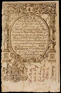 Lot  608: Colonial Currency 4/3/1742 NH 1s