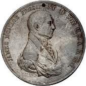 Lot 992:1817 James Monroe Indian Peace Medal