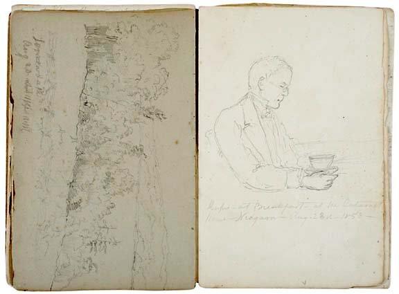 Lot 1272: 1853 Pencil Sketches,Niagara Falls
