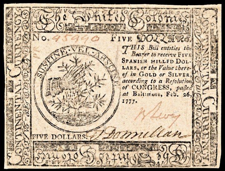 Continental Congress Feb 26, 1777. Benjamin Levy