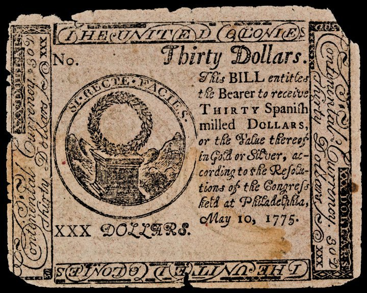 Continental Currency, May 10, 1775 PINK Detector