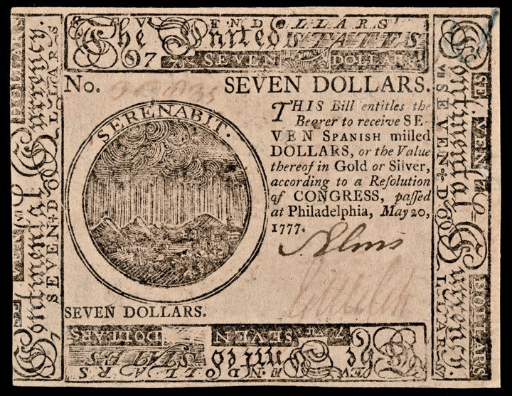 Continental Currency May 20, 1777 UNITED STATES