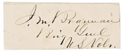 JOHN MILTON BRANNAN Civil War General Signature