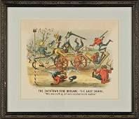 1885 Handcolored Currier  Ives Darktown Print