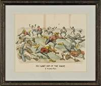 1884 Handcolored Currier  Ives Darktown Print