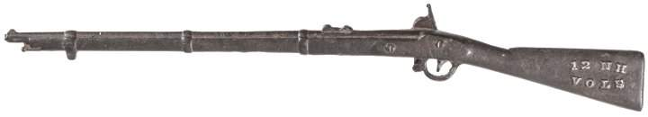 1886 Civil War Reunion Souvenir Metal Toy Musket