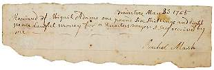 Abagail Adams Signed Document 1765