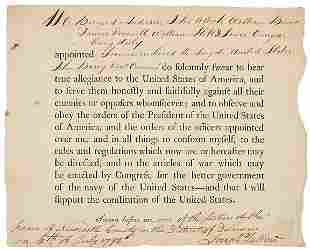 RARE 1798 Naval Oath of Allegiance