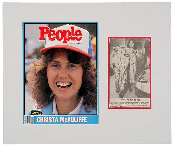 Lot 12: Astronaut Christa McAuliffe Signed