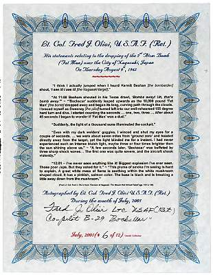 A-Bomb Co-Pilot Signed Document