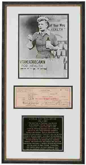 Lot 17:Lucille Ball Arnaz Signed Check 1953