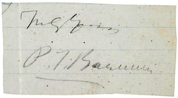 Lot 18: P.T. Barnum Signature