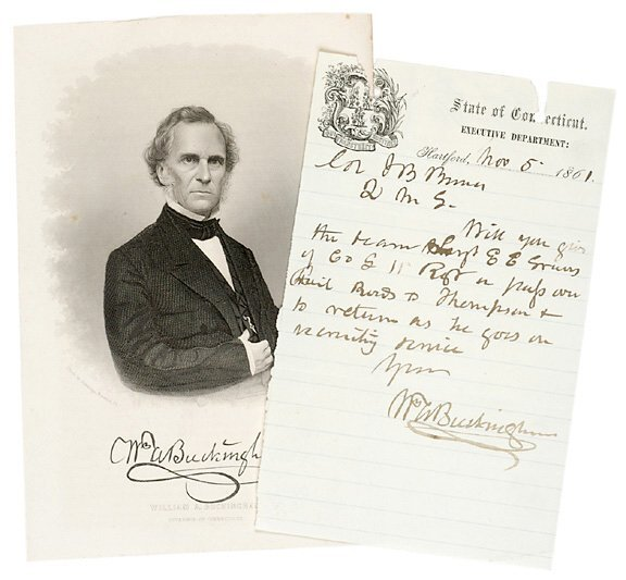 Lot 22: William A. Buckingham Signed Letter