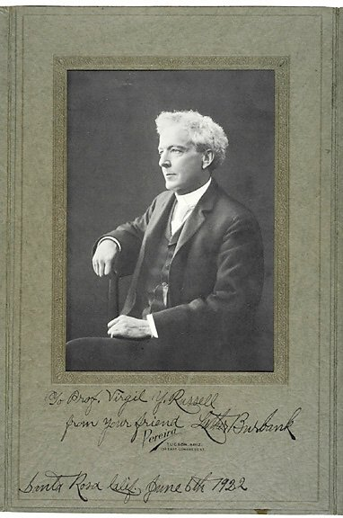 Lot 24: Luther Burbank Signed Photo 1922