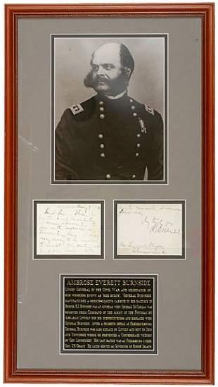 Gen. A.E .Burnside Signed Note