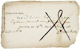 Aaron Burr Signed Check 1788