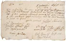Lot 35: George Clark Signature, 1713