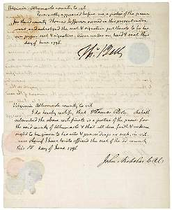 Lot 124: 3x Signed Thomas Jefferson Document