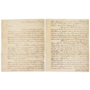 Lot 250:George Washington Signed Letter 1799