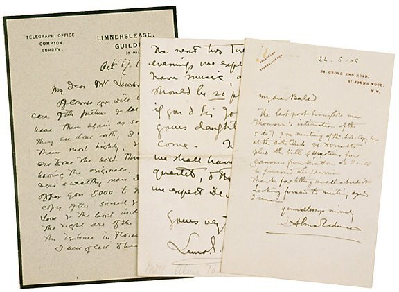 Lot 253: 1800s English Painters Signatures