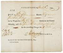 Lot 317: John Bayard Signed Document, 1777
