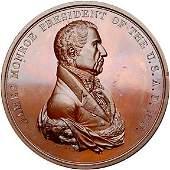 Lot 1224: 1817 Monroe Indian Peace Medal