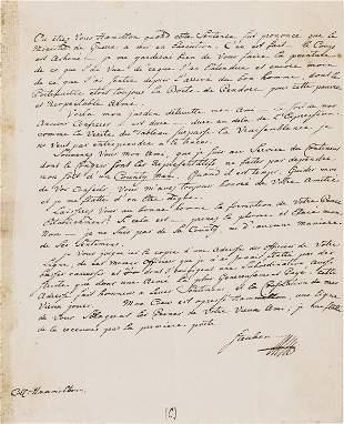 BARON VON STEUBEN Autograph Letter to HAMILTON