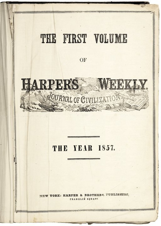 FIRST YEAR HARPERS WEEKLY JOURNAL OF CIVILIZATION