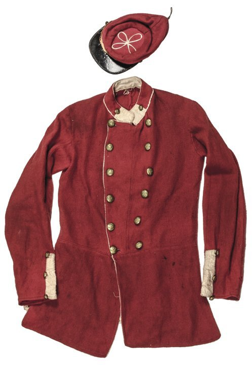 War Era Zouave Drummer Boy Red Coat & Hat