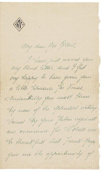 Rare RUDOLPH VALENTINO 1923 Autograph Letter