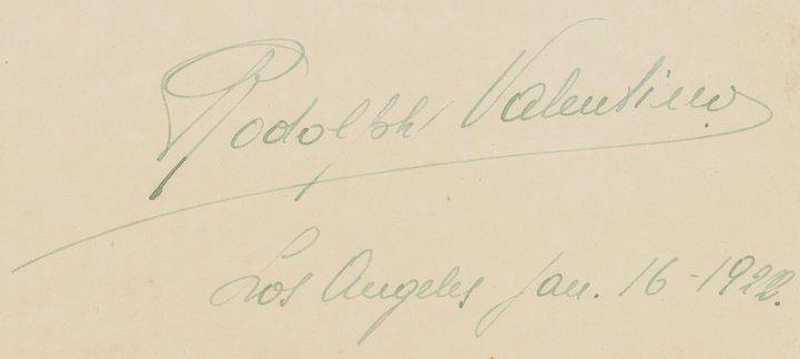 Rare RUDOLPH VALENTINO 1923 Autograph Letter - 3