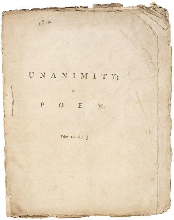 1780 Revolutionary War 1st Edition Imprint A POEM