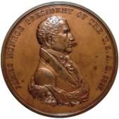 1817 JAMES MONROE Indian Peace Medal Bronze IP-8