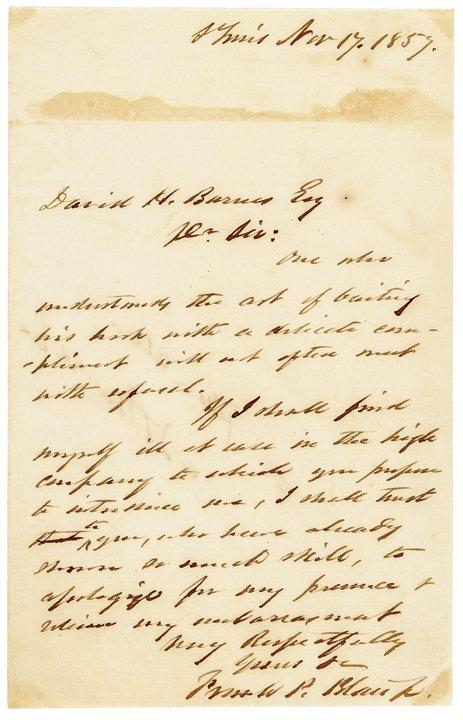 1859 FRANCIS PRESTON BLAIR JR. ALS
