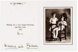 DIANA, PRINCESS OF WALES Autograph Card & Photo
