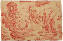 c. 1790 BENJAMIN FRANKLIN APOTHEOSIS Textile
