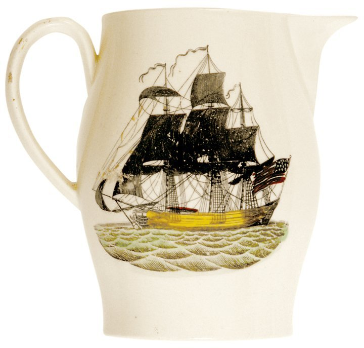 WASHINGTON Liverpool Pitcher with American Ship