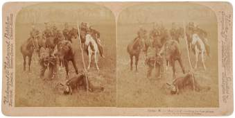 c. 1900 Native American Indian Theme Stereoview