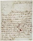 Lot 5: Jeffrey Amherst Letter Signed 1788