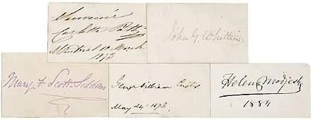 Lot 11: Five Authors Autographs