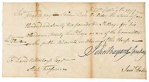 Lot 14: John Bayard Signed Document 1789