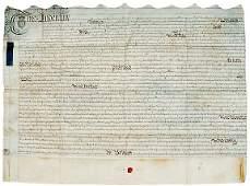 Lot 201: 1756, Ornate English Indenture