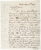 Lot 1234: 1798 Political Content Letter