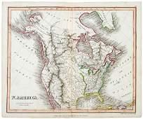 Lot 1403: Map-1819, ÒN. AMERICAÓ by J. Mawman