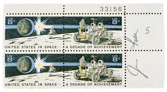 2003: ASTRONAUT, JIM IRWIN Signed Stamps