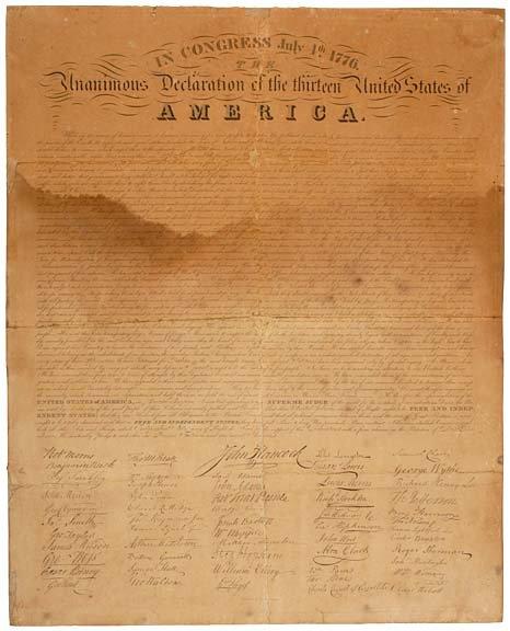 2011: Broadside Print, DECLARATION OF INDEPENDENCE