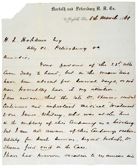 2025: General WILLIAM MAHONE, Letter Signed, 1861